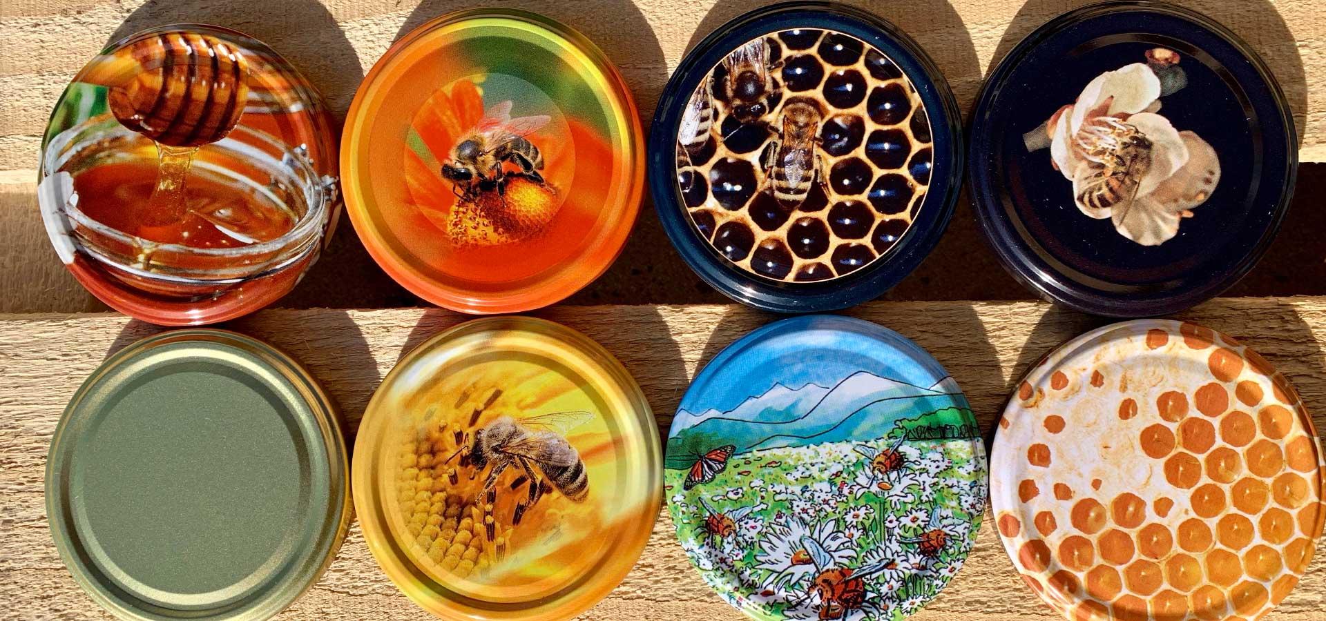 Honiggläser für Imker und Bienen