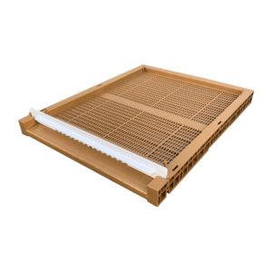 Zander Flachboden aus Kunststoff inklusive Fluglochkeil und Varroaschieber Imkerei.