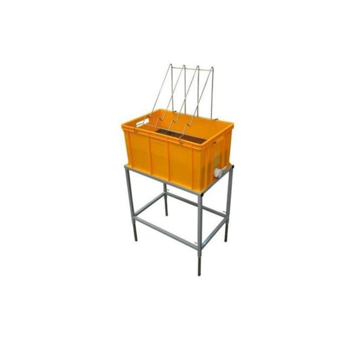 Entdeckelungswanne mit Ständer 300mm zum entdeckeln von Honig Waben Entdeckelung Imkerei Rähmchen.