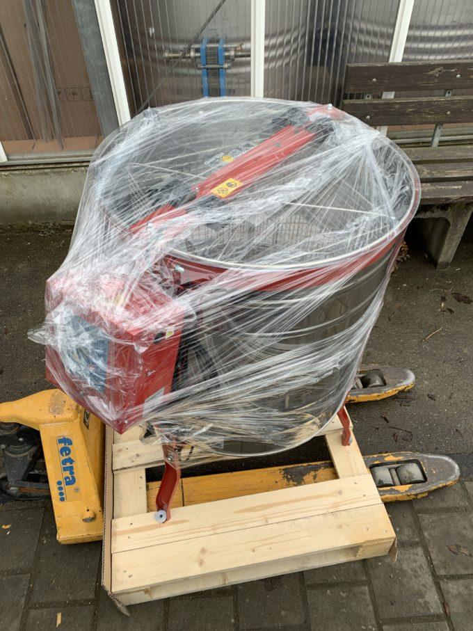 4 Waben Honigschleuder mit Elektroantrieb Autobatterie