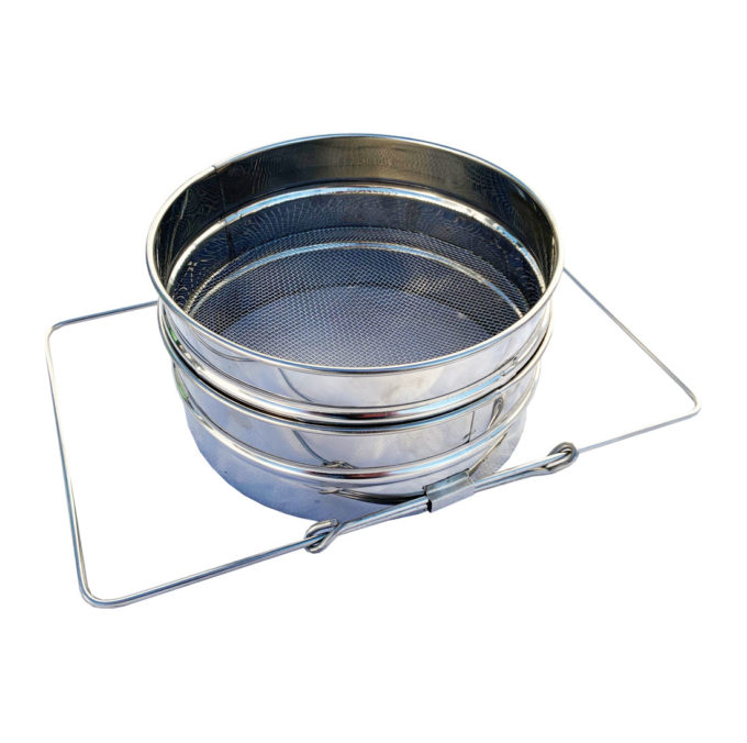 Doppelsieb aus Edelstahl für Eimer Lebensmitteleimer Hobbock 10 20 33 Liter