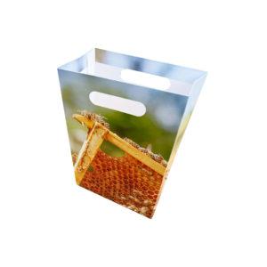 Papiertüte mit Wabenmotiv (10er Pack) Papiertüte Bienen Geschenk Geschenktüte Tüte Imkerei Bienen